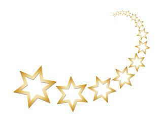 Sternschnuppe - Goldene Sterne - Weihnachten