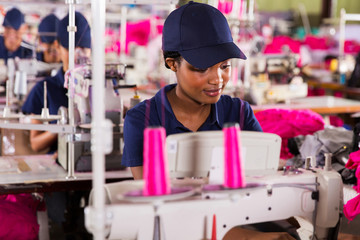 african clothing factory worker