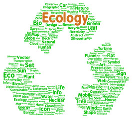 Ecology word cloud shape