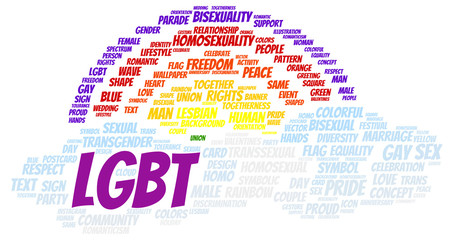 LGBT word cloud shape