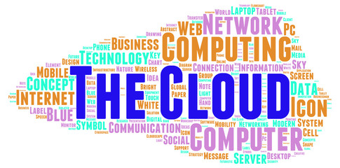 The Cloud word cloud shape