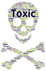 Toxic word cloud shape
