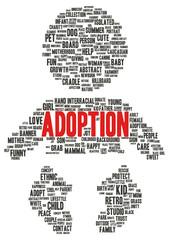 Adoption word cloud shape