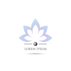 Lotus icon for wellness, yoga and spa.
