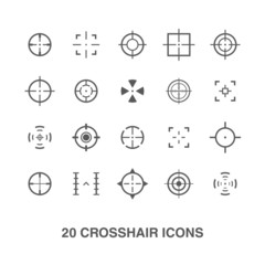 Cross hair icons set.