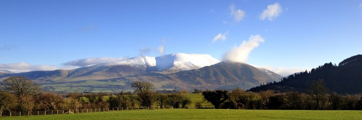 Snow capped Skiddaw
