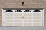Residential house garage door