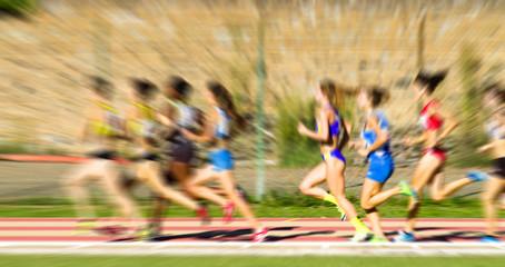 woman foot race