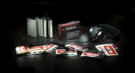 Composition with cassettes and player