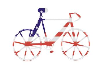 Bike with American Flag