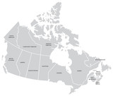 Canada Map with Provinces - 71198681