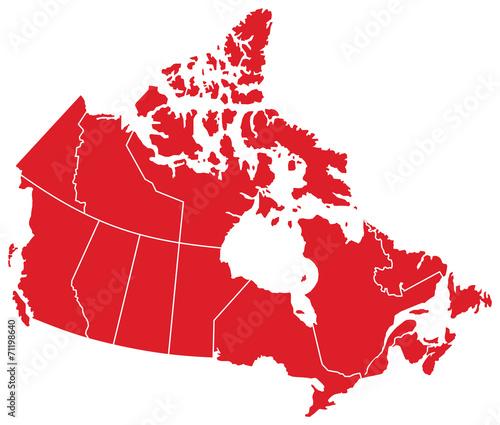 Canada Map - 71198640