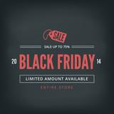 Black Friday Sale Poster design Typography Retro - 71198836