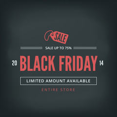 Black Friday Sale Poster design Typography Retro