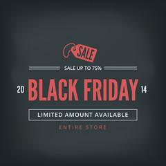 Black Friday Sale Poster design Typography Retro