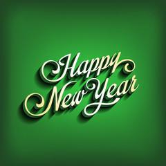 Happy New Year type calligraphic typography. Greeting