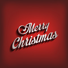 Merry Christmas type calligraphic typography lettering