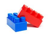 Fototapety Plastic building blocks
