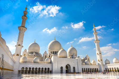 Foto op Canvas Bedehuis Sheikh Zayed Mosque, Abu Dhabi, United Arab Emirates.