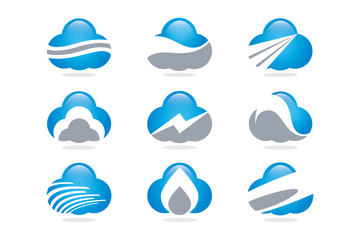 Vektör Logo Bulut Teknoloji