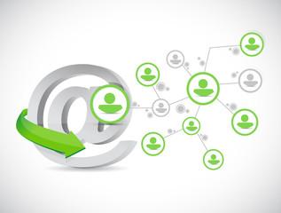 online people network illustration