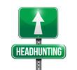headhunting street sign
