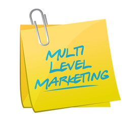 multi level marketing memo post
