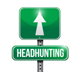 headhunting street sign