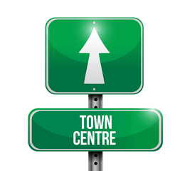 town centre street sign illustration