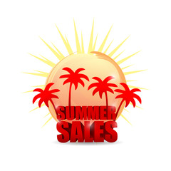 summer sale. beach sign