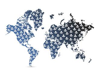 world map population illustration
