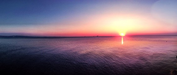 Awesome sunset at Trieste -Italy