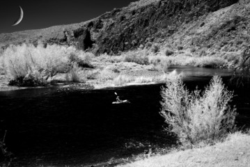 Kayak on Desert River