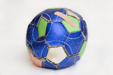 Bandaged Soccer Ball