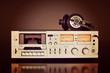 Leinwanddruck Bild - Vintage Stereo Cassette Tape Deck Recorder