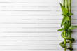 Spa bamboo on wooden background