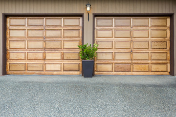 Double door garage in a luxury house