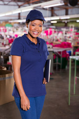 female african textile factory supervisor