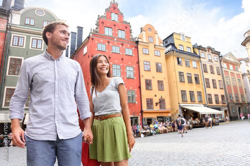 Staande foto Stockholm Couple in Stockholm, Sweden, Europe