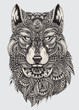 Highly detailed abstract wolf illustration