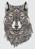 Fototapety Highly detailed abstract wolf illustration