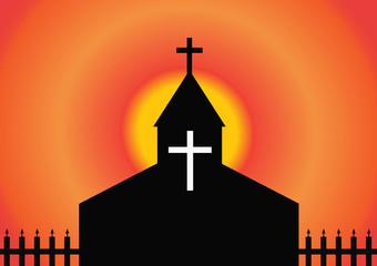 Vector illustration of church