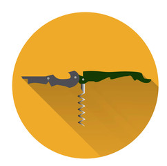 Corkscrew vector flat shadow.Vector illustration