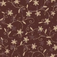 壁紙, 装飾的, シームレスな花柄