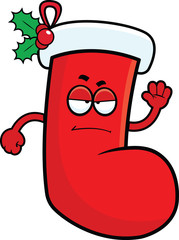 Cartoon Christmas Stocking Grumpy