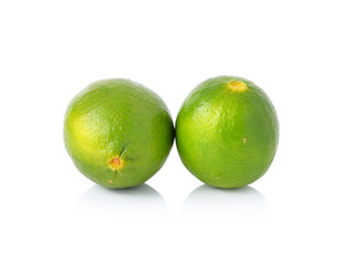 lime fruit isolated on white background
