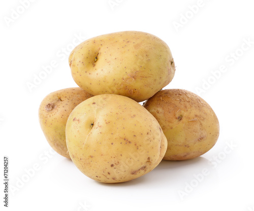 Foto op Canvas Groenten potato isolated on white background