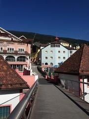 Brücke in Sankt Ullrich, Gröden, Südtirol, Italien