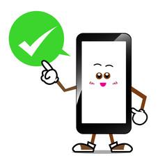 Smart phone cartoon 003