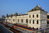 Train station in the city of Vladivostok, Russia